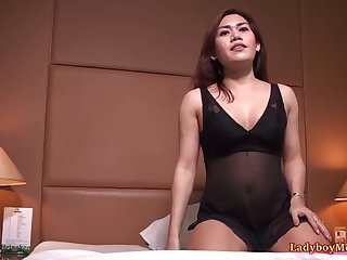 kinky guy and ladyboy dena in the room