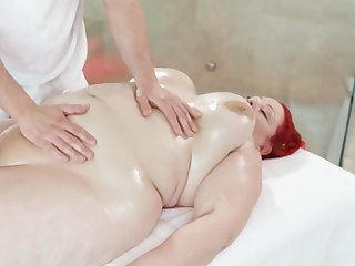 fat huge redhead used as fuck pillow
